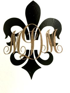 The Fleur de Lis monogram initial decal is made from quality outdoor vinyl and can be used on pretty much any surface. They look great on your