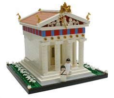 Greek Temple by Matija Grguric, via Flickr. How admirable! Its very acurate for a greek temple (^-^)