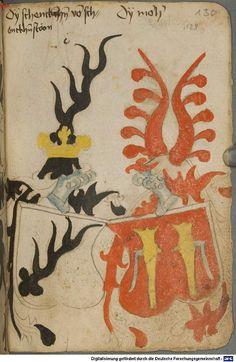 Ortenburger Wappenbuch Bayern, 1466 - 1473 Cod.icon. 308 u  Folio 130r