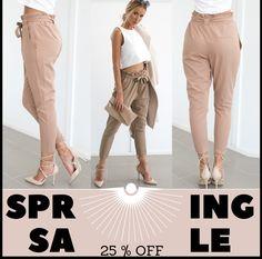 Spring Sale  Discount Code - Spring 2019 25% off entire order 02-09-2019 - 06-09-2019  Shop Now - womens-fashion-designer.com   #Fashion #LookBook #OutfitOfTheDay #LookOfTheDay #FashionWeek #Fashionable #Stylish #FashionDiaries #FashionBlog #FashionStyle #FashionPost #FashionGram #InstaFashion #InstaStyle #StyleBlog #StreetWear #WhatIWore #Trend #WIW #WIWT #Look #FashionAddict #FashionLover #Fashionista #OutfitPost #FashionDaily #FashionStylist #stylishdresses #trendy Fashion Addict, Women's Fashion, Fashion Outfits, Fashion Design, Designer Leggings, Camouflage Fashion, Elastic Waist Pants, Spring Sale, Fashion Lookbook