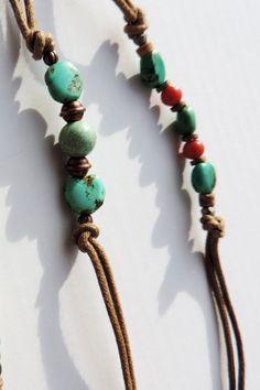 Bracelet Pierre Labradorite Naturelle Authentique Unisexe Reglable Coton