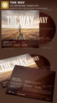 The Way CD Artwork Template — Photoshop PSD #series #clouds • Available here → https://graphicriver.net/item/the-way-cd-artwork-template/8102766?ref=pxcr