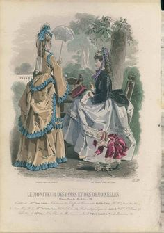 1871 Victorian fashion plate. Ladies bustle dresses and fashions for children too!