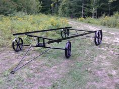 Shepherd Hut running frame with cast iron wheels
