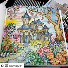 Que maravilha by @joanna8304 #desenhoscolorir  #coloringbook♡ 스테들러 서포터즈 2기♡ 비너스의 사랑스런 라이프스타일 컬러링북 STAEDTLER KARAT AQUARELL 36 COLORDPENCIL & The title of this book is a lovely lifestyle of Venus. A coloring book in South Korea. I#alovelylifestyleofvenus #스테들러 #스테들러코리아 #스테들러서포터즈2기 #스테들러색연필 #고급수채색연필 #수채색연필추천 #스테들러카라트아쿠아렐  #스테들러수채색연필 #컬러링색연필  #coloring #coloringbook #colouring #creativcoloring #adultcoloring #beautifulcoloring