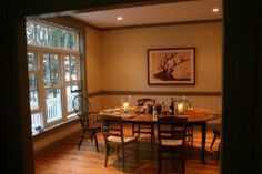 Dining room in Maine