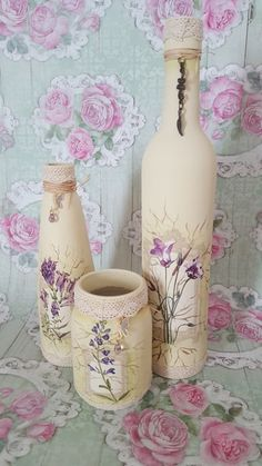 1 million+ Stunning Free Images to Use Anywhere Recycled Glass Bottles, Glass Bottle Crafts, Bottle Art, Tin Can Crafts, Diy And Crafts, Bottles And Jars, Glass Jars, Decoupage Glass, Do It Yourself Crafts