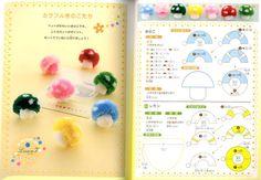 Pom Pom Mushroom - Easy and Cute Pom Pom Craft for Kids. I Can Do It by myself - Japanese Craft Book by pomadour24
