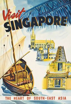 Vintage Travel Poster - Singapore