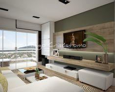 Tiago Crisostomo: Home Theater Living Room Modern, Home Living Room, Interior Design Living Room, Living Room Designs, Living Spaces, Family Room, Room Decor, House Design, Furniture