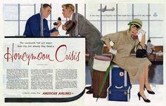 American Airlines advertisements by Al Parker, 1953-55. https://en.wikipedia.org/wiki/Al_Parker_(artist) https://www.pinterest.com/sgbsilvana/artist-al-parker/