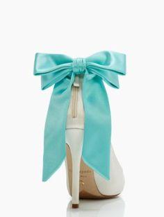 GRANDE BOW heels - kate spade new york .....something blue
