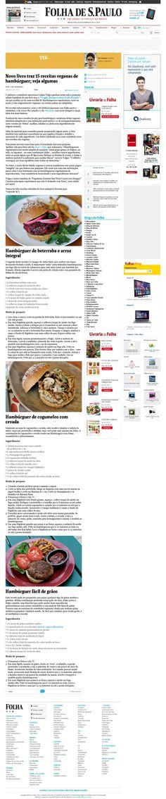 Título: Novo livro traz 15 receitas veganas de hambúrguer.  Veículo: Folha de São Paulo. Data 26/11/2014 Cliente: Editora Alaúde