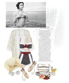 """""""Summer days"""" by nicolesynth ❤ liked on Polyvore featuring New Look, Kate Spade, Beach Bunny, Urban Decay, Sur La Table, Soludos and Chicnova Fashion"""