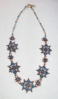 Beaded Snowflake Necklace
