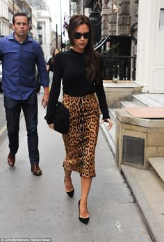 9abefbc3d2 Victoria Beckham makes a second visit to her store in Mayfair. Victoria  Beckham StoreAnimal Print SkirtAnimal ...