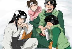 Might Guy, Lee, Tenten and Neji, Naruto Shippuden