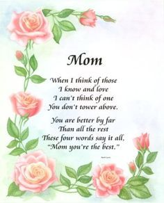Happy mothers day quotes happy mothers day greetings happy mothers image detail for love you mom poems mom i love you poem with pink thecheapjerseys Choice Image