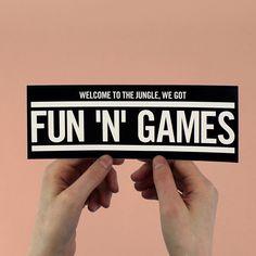 "Guns N' Roses ""Welcome to the Jungle"" Lyric Bumper Sticker"