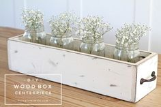 Best Country Crafts For The Home - Diy Wood Box Centerpiece - Cool And Easy Diy .Best Country Crafts For The Home - Diy Wood Box Centerpiece - Cool And Easy Diy Craft Projects For Diy Wood Box, Rustic Wood Box, Wood Boxes, Wooden Diy, Wood Offcuts Ideas, Wood Box Decor, Wall Decor, Rustic Table, Wood Wood