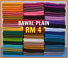 Bawal Plain Rm 4.00 .. Layari di Facebook ZazaScarf owkeyy