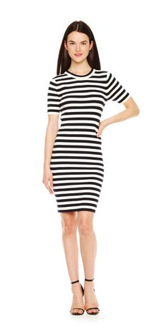 FREE SHIPPING on orders over $50. FREE RETURNS in store. Sport your stripes in a slim and sleek dress silhouette.