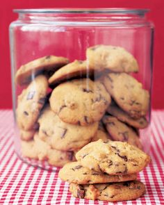 This cookie dough is almost like a thick cake batter; if it is warm when it goes into the oven, it will spread too much. If needed, chill the dough briefly before baking.