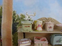 Miniature Love.......Dollhouse Miniature Shabby Chic Vintage Style by IttyBittyAndCute