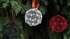 3D Printed Christmas Balls by cunicode(available on Shapeways)