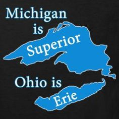 Michigan is Superior T-Shirts @ www.downwithdetroit.com  #Michigan