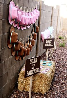 Adorable pink and turquoise cowgirl party gear   #cowgirl #cowgirlparty #cowgirlpartyideas  http://www.islandcowgirl.com/