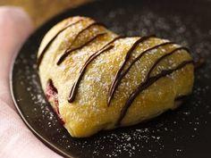 Crescent Dough Chocolate-Raspberry Hearts