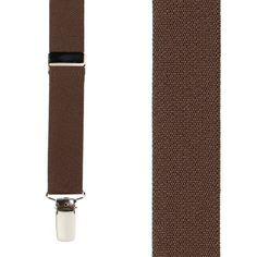 Brown Suspenders � 1 Inch Wide (X-Back)