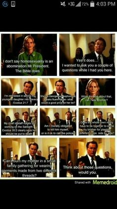 Funny pictures about Probably The Best Scene From The West Wing. Oh, and cool pics about Probably The Best Scene From The West Wing. Also, Probably The Best Scene From The West Wing photos. West Wing Quotes, Mantra, Another A, Mr President, No Rain, Atheism, Favorite Tv Shows, Make Me Smile, In This World