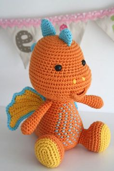 Lars the dragon amigurumi pattern by lilleliis
