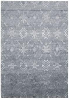 Nourison Silk Shadows Blue Area Rug SHA05 BL (Rectangle)