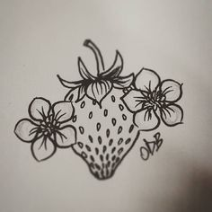 Strawberry #ofatalee #ofataleetattoo #ofataleeprint #tattoo #sketch #sketchbook…