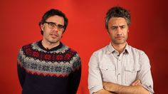 Falling in love with Jemaine Clement and Taiki Waititi--well, maybe they did not fall in love with each other, but I definitely fell in love with both of them...!!!