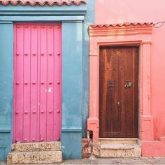 Go bold. A solid splash of color for a single wall or door.