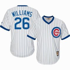 Men's Chicago Cubs #26 Billy Williams Majestic White Cooperstown Collection Player Jersey