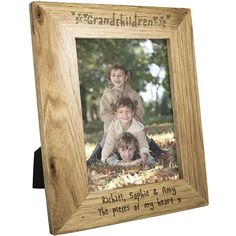 Personalise this Grandchildren Frame with any message over 2 lines, up to 30 characters per line.The personalisation will feature below the photograph.'Grandchildren' is fixed text.The frame can hold a 5 x 7 print. Gifts For Nan, Unique Gifts For Him, Presents For Men, Grandma Gifts, Personalized Gifts For Grandparents, Personalized Photo Frames, Personalised Gifts, Special Symbols, Engraved Gifts
