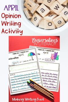 April Opinion Writing Activity- students learn persuasion writing through this fun writing activity like Would You Rather! Students must also use reasons to back their opinions. #aprilwriting #conversationsinliteracy #writingactivity #opinionwriting #firstgrade #springactivites #secondgrade #thirdgrade 1st grade, 2nd grade, 3rd grade