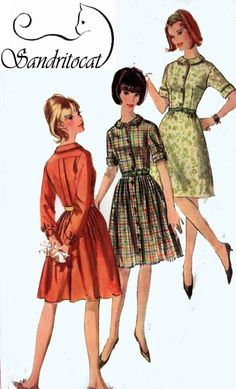 Vintage 60s Sewing Pattern Simplicity 6042 Mod One by sandritocat, $11.00