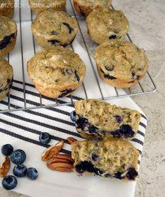 Muffins saludables de calabacita, moras, nuez y limón (sin gluten y lácteos)  www.pizcadesabor.com