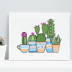 Little Desert Potted Plant Gang | Signed Art Print | Boelter Design Co.