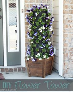 Simply Designing with Ashley: DIY Flower Tower