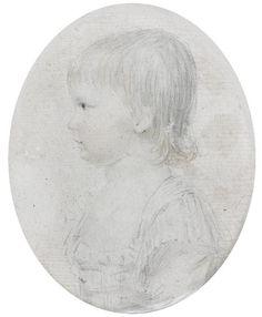Portrait présumé de Louis XVII enfant, circa 1780's, French school