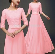 Find More Dresses Information about Spring evening lace dress bow women chiffon sexy  party long dresses maxi candy color vestidos drop shipping C762,High Quality vestido chiffon,China vestidos elegantes Suppliers, Cheap vestidos sexy from Perfect `Queen on Aliexpress.com