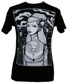 Mens Mi Vida Loca by Whitney Lenox Tattoo T-Shirt Black