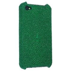 Shagreen iPhone case in Emerald Green